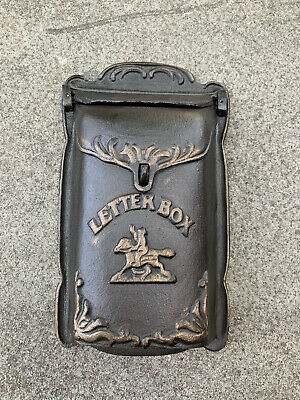 Cast Iron Small Post Letter Box Wall Mounted Antique style
