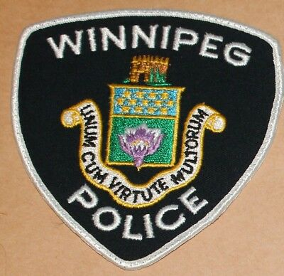 WINNIPEG POLICE Canada Canadian PD Used worn patch #1