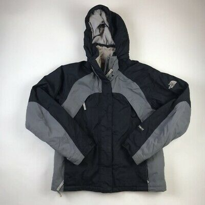 The North Face Womens Hyvent Jacket Black Full Zip Up Hooded Lined Pockets M