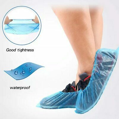 Wholesale Blue Anti-foot infection 100Pcs/Pack Waterproof Disposable Shoe Covers