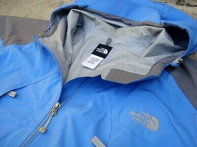The North Face Gore Tex Waterproof Breathable Rain Jacket Women's XL hooded blue