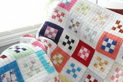 MINI 9 PATCH SQUARES ~ New Handmade Baby Girl Quilt