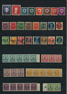Germany, Deutsches Reich, Nazi, liquidation collection, stamps, Lot,used (KP 9)