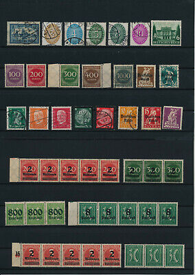 Germany, Deutsches Reich, Nazi, liquidation collection, stamps, Lot,used (KP 10)