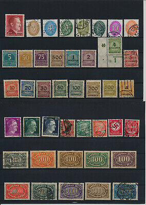 Germany, Deutsches Reich, Nazi, liquidation collection, stamps, Lot,used (KP 7)