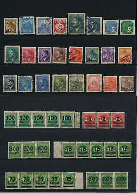 Germany, Deutsches Reich, Nazi, liquidation collection, stamps, Lot,used (RU 27)