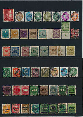 Germany, Deutsches Reich, Nazi, liquidation collection, stamps, Lot,used (KO 71)