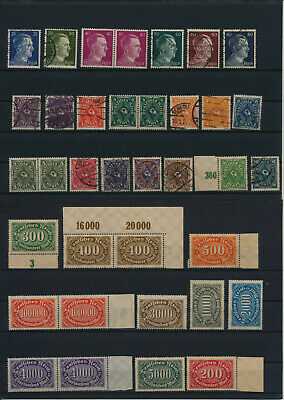 Germany, Deutsches Reich, Nazi, liquidation collection, stamps, Lot,used (RU 25)