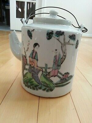 Antique Chinese porcelain teapot Late Qing dynasty to Republic Period