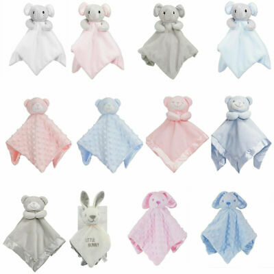 Baby Comforter Security Blanket Teddy Elephant Newborn Infant Boys Girls Snuggle