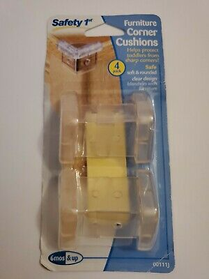 Safety 1st First Furniture Corner Cushions 4 Ct Pack Clear Baby Child Proof