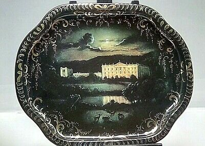 Chatworth, Devonshire Moon At Night Metal Tray Designed by Patricia Machlin