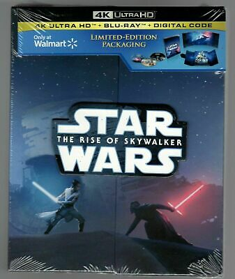Brand New 4K Ultra Limited Edition Star Wars The Rise Of Skywalker + Blu Ray + D