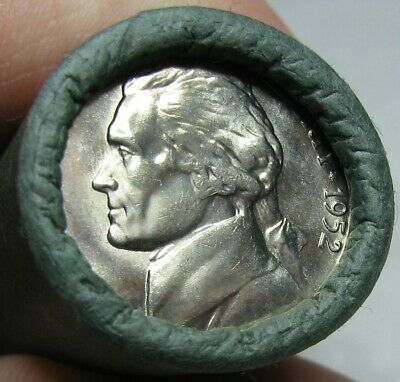 1952 S Obw Original Bank Wrapped Roll Bu Uncirculated Jefferson Nickels