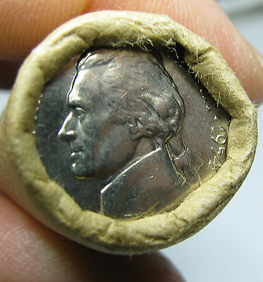 1954 D Obw Original Bank Wrapped Roll Bu Uncirculated Jefferson Nickels