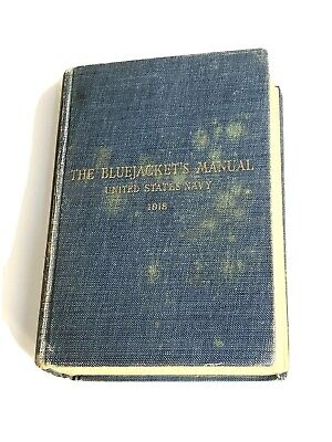 Edward G Robinson 's WW1 The Bluejacket's Manual 1918 United States Navy