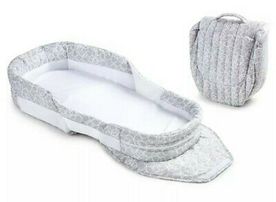 Baby Delight Snuggle Nest Dream Cosleeper Infant Newborn Bed Gray Scribbles