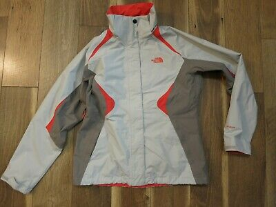 The North Face HyVent A6FB Women's Gray/Pink Full Zip Jacket Sz M Missing Hood