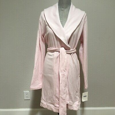 UGG Blanche Shawl Collar Knit Spa Bath Robe Seashell Pink Size XL XLarge Women