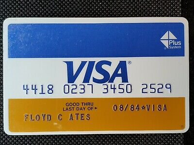 First Bankcard Center Visa Plus exp 1984♡Free Shipping♡cc1417♡