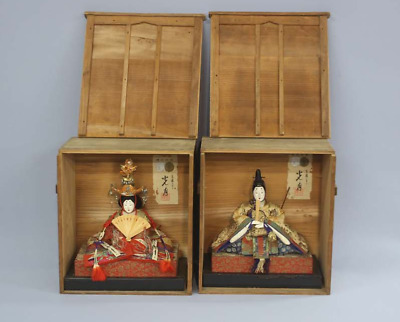 Antique Japanese Imperial Palace Doll Emperor & Empress Early Meiji Period