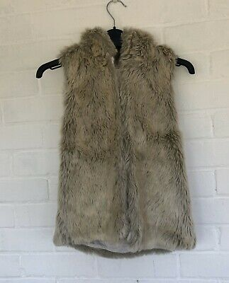 Girls Faux Fur Gilet From Next Aged 10 🌷