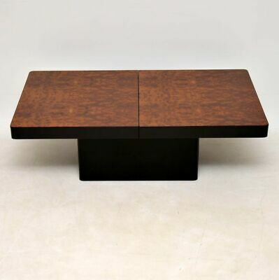 WILLY RIZZO STYLE RETRO WALNUT COFFEE TABLE VINTAGE 1970's