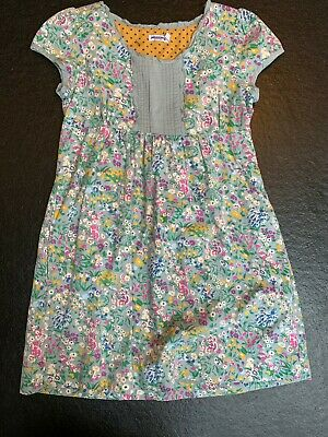 Mini Boden girls dress age 11-12yrs. Grey/multi flowery cotton. Johnnie B