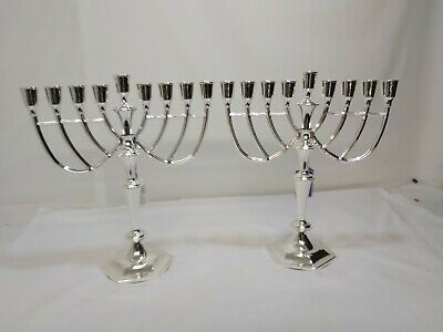 A Pair Of Matching Silver Plated Candleabras.1950.s.very Ornate.