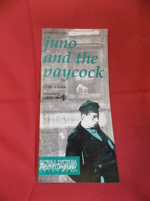 Juno and the Paycock Programme, Royal Lyceum, 1990