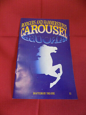 Carousel Programme, Shaftesbury Theatre, 1993, with Phil Daniels & Leona Lewis,