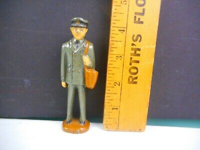 "Vintage Cast Metal Postman 4"" Tall"