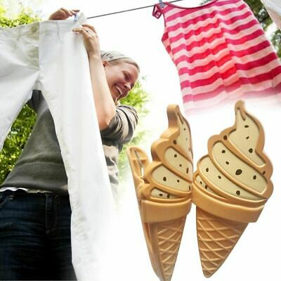 Ice Cream Shaped Plastic Beach Towel Clips Large Bed Lounger Holder Pool Clothes