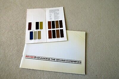 The New Generation Rovers Sd1 Brochure & Colour Chart