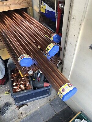 15mm×3m copper pipe/tube-bundle of 10 pipes British standard