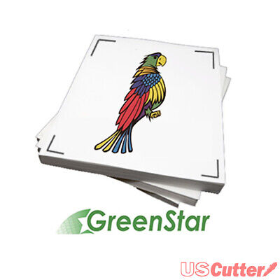 "GreenStar Printable Inkjet Vinyl for Ink-jet Desktop Printers 8-1/2""x11"" - 25pcs"