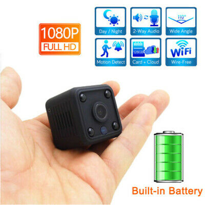 Mini Spy Battery Camera Wireless Wifi IP Security FHD 1080P Night Vision DVR