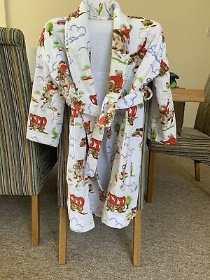 Cath Kidston Boys Cowboy Print Kids Dressing Gown Age 6/7 Excellent Condition.