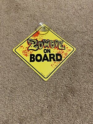 Kalan Zombie On Board Suction Cupped Car Sign