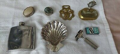 attic finds collection. Decorative boxes.old razor.brass