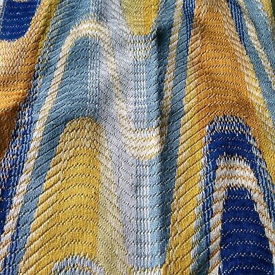 1920s 1930s Deco style blue gold tapestry Modernist Art craft upholstery fabric