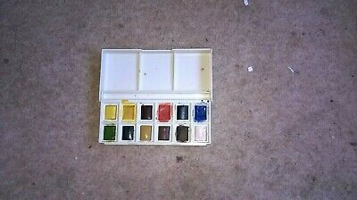 very small Winsor & Newton paint box  for artists-  12 colours