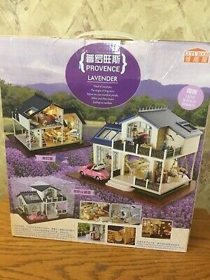 Provence Lavender - Christmas New Year Gift Wooden Miniature DIY House Dollhouse