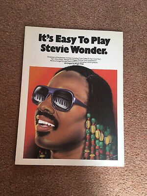 Vintage It's Easy To Play Stevie Wonder Piano Music Book