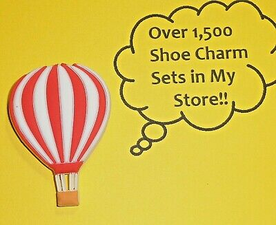 Red Hot Air Balloon Shoe Charms Shoe Buttons Plugs Decoration Cake Toppers