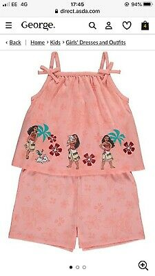 GEORGE GIRLS DISNEY MOANA playsuit SUMMER SET BNWT ALL AGES OUTFIT