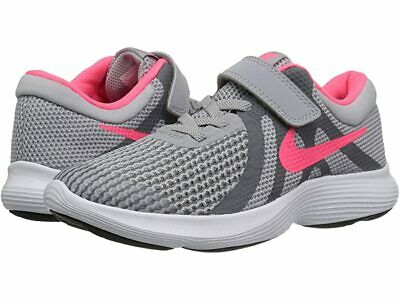 Girls Nike Little Kids' Revolution 4 Sneakers, Grey and Pink, Size 11 943307-003