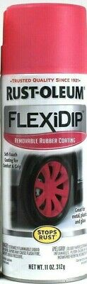 1 Cans Rust-Oleum 11 Oz FlexiDip 283178 Bright Pink Removable Rubber Coating