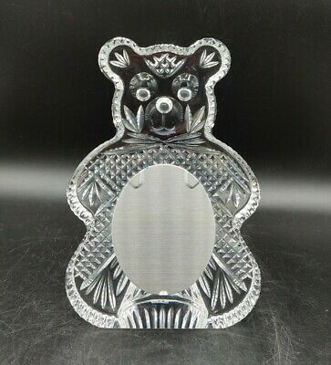 Waterford Crystal Teddy Bear Picture Frame AS IS