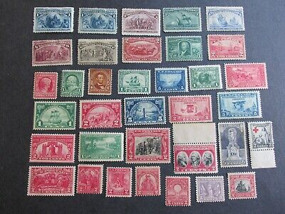 Collection of Old US Stamps unused most with OG 1800s early 1900s